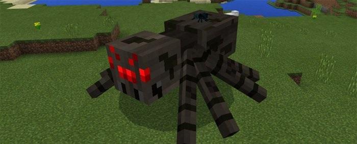 Поведение пауков Майнкрафт
