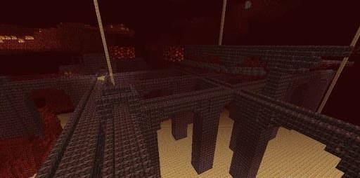 Адская крепость Майнкрафт внешний вид